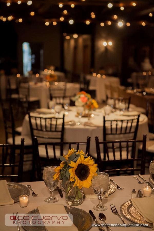 Sunflower Mason Jar Wedding Centerpieces