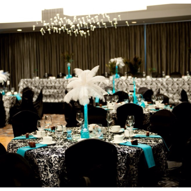 Turquoise And Black Wedding Ideas