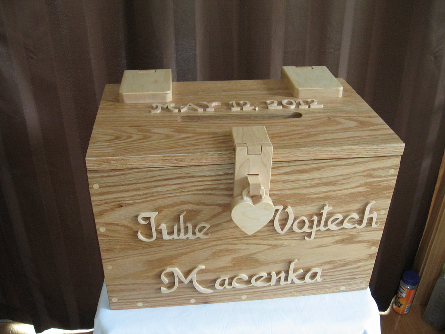 Wedding Card Box With Lock
