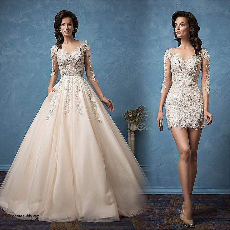 Convertible Wedding Dress Detachable Skirts
