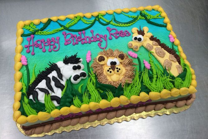 Jungle Baby Shower Sheet Cake, By Stephanie Dillon, Ls1 Hy