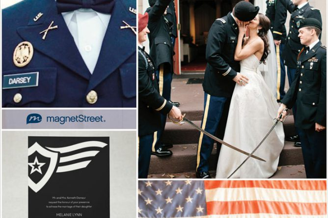 Military Themed Wedding Ideas {pretty & Patriotic}
