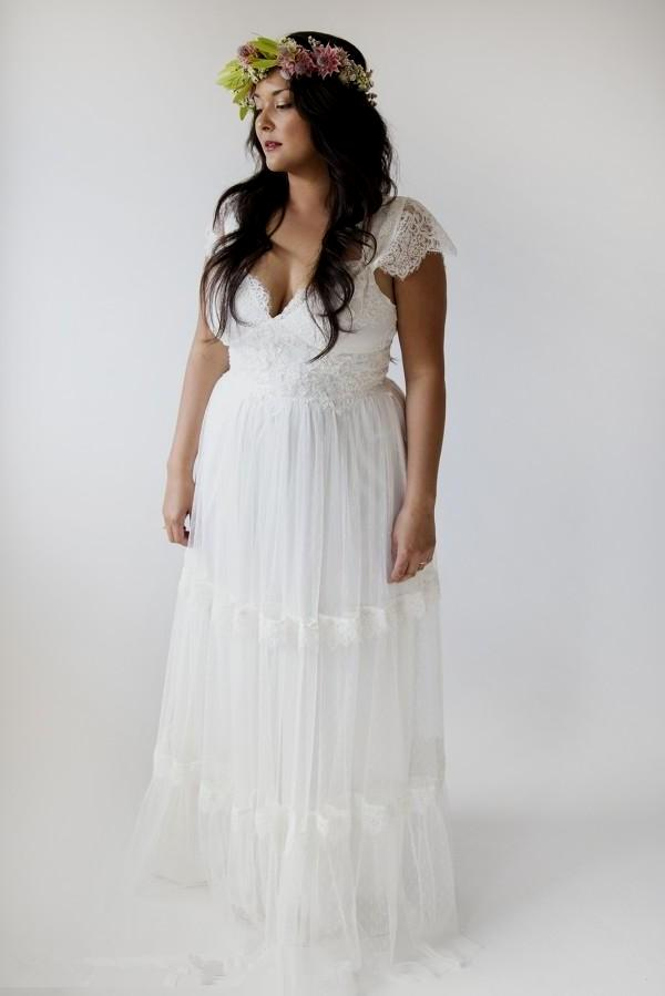 Plus Size Hippie Wedding Dresses