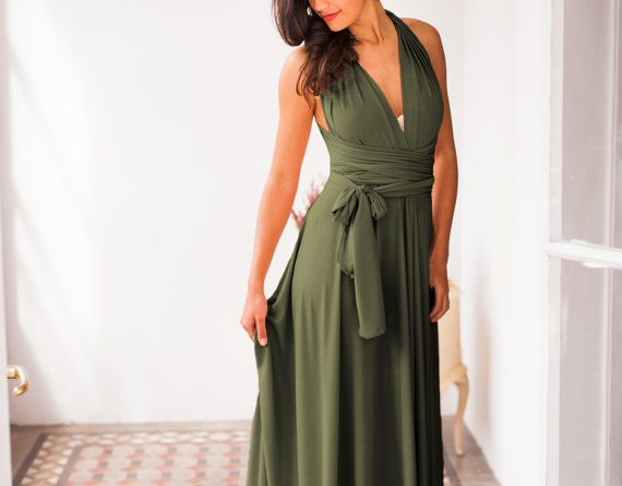 Olive Green Bridesmaid Dress, Green Dress, Bridesmaids, Olive