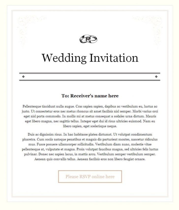 Wedding Invitation Mail For Office